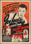 "Movie Posters:Black Films, The Fight Never Ends (Toddy Pictures, R-1948). One Sheet (28"" X40""). Black Films.. ..."