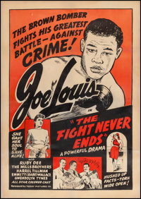 "The Fight Never Ends (Toddy Pictures, R-1948). One Sheet (28"" X 40""). Black Films"