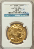 Modern Bullion Coins, 2012 G$50 One-Ounce Gold Buffalo, Early Releases MS70 NGC. Ex:.9999 Fine. NGC Census: (2540). PCGS Population (2771)....