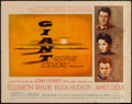 "Movie Posters:Drama, Giant (Warner Brothers, 1956). Half Sheet (22"" X 28""). Drama.. ..."