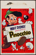 "Movie Posters:Animation, Pinocchio (Discibel, R-1963). Belgian (14"" X 22""). Animation.. ..."
