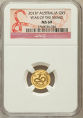 Australia, 2013-P G$5 Australia, Year of the Snake MS69 NGC. ...