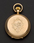 Timepieces:Pocket (pre 1900) , Illinois 6 Size 14k Gold Hunters Case. ...
