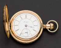 Rockford Two-Tone Movement Hunter's Case Pocket Watch