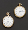 Timepieces:Pocket (post 1900), Hamilton 900 & Hamilton 910 Pocket Watches Runners. ... (Total:2 Items)