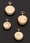 Timepieces:Pocket (post 1900), Four Fancy Lady's Hunter Case Watches. ... (Total: 4 Items)