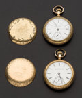 Timepieces:Pocket (post 1900), Two Runners, Elgin 15 Jewel, Hampden 17 Jewel John Dueber Special.... (Total: 2 Items)