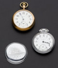 Timepieces:Pocket (post 1900), Illinois 21 Jewel Bunn Special, Waltham 21 Jewel Crescent St.. ... (Total: 2 Items)