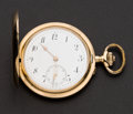 Timepieces:Pocket (post 1900), Swiss Large 52 mm 14k Gold Hunters Case. ...