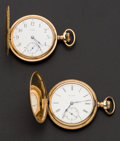 Timepieces:Pocket (post 1900), Two 15 Jewel Hunter Case Pocket Watches Runner. ... (Total: 2Items)