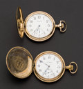 Timepieces:Pocket (post 1900), Illinois & Waltham 12 Size Hunter Case Pocket Watches. ...(Total: 2 Items)