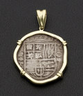 Estate Jewelry:Pendants and Lockets, Replica Coin With 14k Gold Frame Pendant. ...