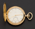 Timepieces:Pocket (pre 1900) , Elgin Heavy 14k Gold 12 Size Hunters Case For Mermod Jaccard &Co.. ...