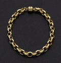 Estate Jewelry:Bracelets, 14k Gold Chain Bracelet. ...
