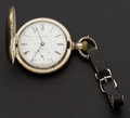 Timepieces:Pocket (pre 1900) , Elgin 18 Size Coin Silver Hunters Case. ...