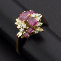 Estate Jewelry:Rings, Ruby & Diamond Gold Ring. ...