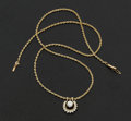Estate Jewelry:Necklaces, Diamond & Gold Chain Necklace/Enhancer. ...