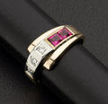 Estate Jewelry:Rings, Diamond & Ruby Gold Ring. ...