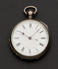 Timepieces:Pocket (pre 1900) , Swiss Silver Center Seconds Doctor's Watch. ...