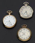 Timepieces:Pocket (post 1900), Three Elgin 12 Size Open Face Pocket Watches. ... (Total: 3 Items)