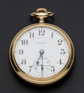 Timepieces:Pocket (post 1900), Elgin 19 Jewel Open Face Pocket Watch. ...