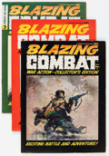 Magazines:Miscellaneous, Blazing Combat #1-4 Group (Warren, 1965-66) Condition: AverageFN/VF.... (Total: 4 Comic Books)