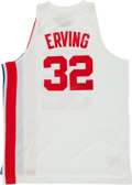 Basketball Collectibles:Uniforms, Julius Erving Signed New Jersey Nets Jersey....