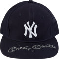 Baseball Collectibles:Hats, Mickey Mantle Signed New York Yankees Cap....