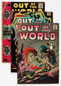 Out of This World Group (Charlton, 1956-59) Condition: Average VG.... (Total: 9 Comic Books)