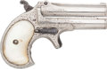 Handguns:Derringer, Palm, Rare Travel Cased Factory Engraved Remington Over & UnderDerringer Type I, Early Production . ...