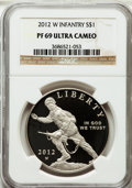 Modern Issues, 2012-W $1 Infantry PR69 Ultra Cameo NGC. NGC Census: (425/64). PCGSPopulation (381/96). ...