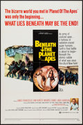 "Movie Posters:Science Fiction, Beneath the Planet of the Apes (20th Century Fox, 1970). One Sheet(27"" X 41""). Science Fiction.. ..."