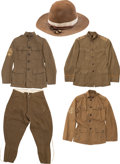 Military & Patriotic:WWI, Lot of Three U.S. WWI Army Air Service Uniforms.... (Total: 5Items)