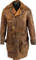 Military & Patriotic:WWI, WWI Era U.S. Aviator's Leather Flying Coat....