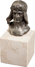 Military & Patriotic:WWI, Small Bust of a WWI German Aviator....