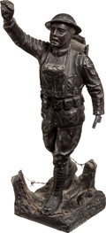 "Military & Patriotic:WWI, ""Spirit of America Doughboy"" Statuette by E. M. Viquesney, Circa1920...."