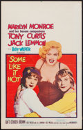 """Movie Posters:Comedy, Some Like It Hot (United Artists, 1959). Window Card (14"""" X 22"""").Comedy.. ..."""