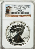 Modern Bullion Coins: , 2012-S $1 Silver Eagle, Reverse Proof, San Francisco Set, EarlyReleases PR70 NGC. NGC Census: (0). PCGS Population (4221)....