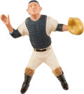Baseball Collectibles:Others, 1958-62 Yogi Berra Signed Hartland Statue, Without Mask. ...