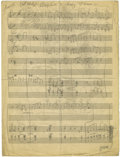 "Music Memorabilia:Sheet Music, Duke Ellington ""Got A Right To Sing The Blues"" Handwritten Score.This Jazz and Blues standard, originally composed by Harol...(Total: 1 Item)"