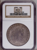 Early Dollars: , 1799 $1 MS61 NGC. NGC Census: (12/57). PCGS Population (11/48).Mintage: 423,515. Numismedia Wsl. Price: $13,750. (#6878)...