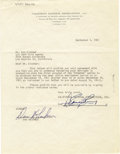 "Movie/TV Memorabilia:Autographs and Signed Items, Dan Blocker Signed Original ""Bonanza"" Agreement. A one-page, typedletter on California National Productions letterhead date...(Total: 1 Item)"