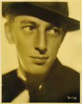 "Movie/TV Memorabilia:Photos, ""Wizard of Oz"" Star Ray Bolger Portrait. An original 11"" x 14""silver print portrait of a young and handsome Ray Bolger, tak...(Total: 1 Item)"
