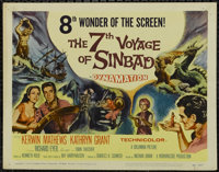 """The 7th Voyage of Sinbad (Columbia, 1958). Title Card (11""""X14"""") and Lobby Cards (3) (11"""" X 14""""). Adv..."""