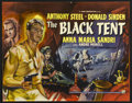 """Movie Posters:War, The Black Tent (Rank, 1956). Half Sheet (22"""" X 28""""). Adventure. Directed by Brian Desmond Hurst. Starring Anthony Steel, Don..."""