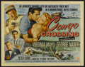 "Movie Posters:Adventure, Congo Crossing (Universal International, 1956). Half Sheet (22"" X 28""). Adventure. Directed by Joseph Pevney. Starring Virgi..."
