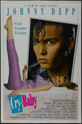"Movie Posters:Comedy, Cry-Baby (Universal, 1990). One Sheet (27"" X 41"") Double Sided Advance. Musical Comedy. Directed by John Waters. Starring Jo..."