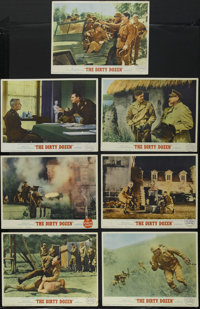 """The Dirty Dozen (MGM, 1967). Lobby Cards (7) (11"""" X 14""""). War. Starring Lee Marvin, Ernest Borgnine, Charles B..."""