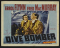 """Movie Posters:Action, Dive Bomber (Warner Brothers, 1941). Lobby Card (11"""" X 14""""). Drama.Directed by Michael Curtiz. Starring Errol Flynn, Fred M..."""