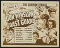 "Movie Posters:Action, Don Winslow of the Coast Guard (Universal, 1943). Title Lobby Card(11"" X 14"") and Lobby Cards (2) (11"" X 14""). Chapter 4 --...(Total: 3 Items)"